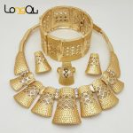 New bridal African <b>jewelry</b> sets fashion wedding engagement <b>jewelry</b> Gold-color 2017 <b>jewelry</b> <b>accessories</b> sets necklace earrings