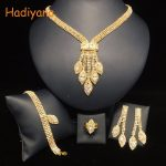 HADIYANA Luxury 4pcs Sets Sparkling Crystal Wedding Bridal Shinning <b>Jewelry</b> <b>Accessory</b> For Bride Party Date Queen Gift BN5766