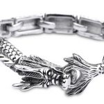 Kalen 2017 New Chinese Auspicious <b>Jewelry</b> Stainless Steel Dragon Bracelet Lucky Punk Biker Bangle Fashion Men's <b>Accessory</b>