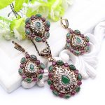 Ethnic Turkish Necklace <b>Jewelry</b> <b>Antique</b> Gold Color Resin Full Crystal <b>Jewelry</b> Sweater Pendant For Party Dresses Floral Women