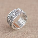 Thai silver ring wholesale S999 sterling silver ring <b>antique</b> crafts lovers heart <b>jewelry</b> gift explosion