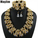 Statement necklace 2018 fashion <b>jewelry</b> sets Handmade beads chain crystal dubai <b>jewelry</b> sets Vintage beads Bijoux <b>Accessories</b>