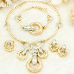 2018 Fashion Luxury Dubai <b>Jewelry</b> Wedding Party <b>Jewelry</b> <b>Accessories</b> Gold Lock-shaped Necklace Women Dubai Bridal <b>Jewelry</b> Sets