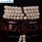 JoursNeige White Bodhi Root Beads 108 Round beads Bracelets Necklace Buddha Prayer Japa Mala <b>Jewelry</b> <b>Accessories</b>