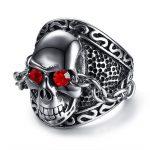 New Punk Rock Mens Skull Ring Vintage Gothic Skeleton <b>Jewelry</b> <b>Antique</b> Silver Fashion Cool <b>Jewelry</b> Anillos