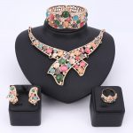 Women Girl Wedding <b>Accessories</b> African Beads <b>Jewelry</b> Set Costume Gold Color Nigerian Cat's Eye Crystal Necklace <b>Jewelry</b> Sets