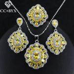 CC Bridal <b>Jewelry</b> Ladies Sets For Women Ring Necklace Pendant Drop Earrings 3pcs Set Wedding Engagement <b>Accessories</b> CCAS177b