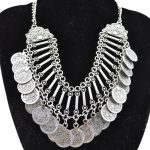 Fashion Gypsy Bohemian Boho <b>Jewelry</b> <b>Antique</b> Silver Tassels Carving Coins Collar Statement Necklace For Women Gift <b>Jewelry</b>