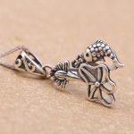 <b>Art</b> <b>Deco</b> Sterling Silver 925 Antique Vintage Women Pendant Clasp Clip Charm Fine <b>Jewelry</b> Setting Semi mount