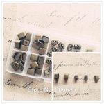 ( Big Hole Beads ) 50Pcs/Set Mix 5 Styles <b>Antique</b> Bronze <b>Jewelry</b> Loose Beads <b>Jewelry</b> Findings & Accessories