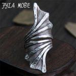 Fyla Mode <b>Antique</b> Thai Silver Ring Restoring European Creative <b>Jewelry</b> Vintage Rings for Women Unisex 46.50mm 7.30G WT055