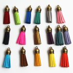 38MM 100PCS <b>Antique</b> Bronze Series 18Color Can Choose Leather Tassel DIY For Making Keychains <b>Jewelry</b> Decoration Accessories