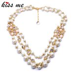 Noble Luxury Multi Layer Simulated Pearls Necklace Fashion <b>Jewelry</b> Women <b>Accessories</b> Mothers Day Gifts