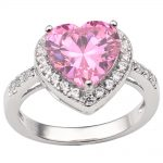 Solid 925 Silver Ring Sterling Stamp Women 10x10mm Heart Shape Cubic Zirconia CZ <b>Jewelry</b> Dress <b>Accessory</b> R089