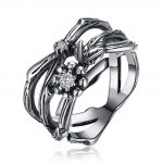 Hemiston Luxury <b>Antique</b> 100% 925 Sterling Silver Flower Branch White Zircon Rings for Women <b>Jewelry</b> SVR269