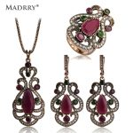 Beauitiful Sculpture Flowers Turkish <b>Jewelry</b> Sets Necklace & Earrings & Ring Royal Style Simulated Resin Women Love <b>Accessories</b>