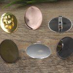 100pcs Cabochon 30*40mm Oval Pad ring blank Cameo Tray,<b>Antique</b> Bronze/Gold/Silver Ring setting,Handmade Zakka <b>jewelry</b> Finding