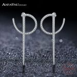 ANFASNI New Arrival Unique Design 925 Sterling Silver Earrings Fashion Ear <b>Jewelry</b> for Women Wedding Party <b>Accessories</b> CGSER0087
