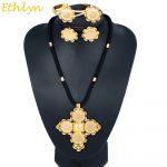 Ethlyn <b>Jewelry</b> DIY Flexible Circles Black Rope Matching Big Cross Coins Ethiopian Women Wedding <b>Jewelry</b> Sets <b>Accessories</b> S063