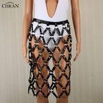 CHRAN Luxury Women Brand <b>Accessories</b> Faux Leather Harness Bondage Body <b>Jewelry</b> Chain Fringe Mesh Belt Belly Waist Sexy Dress