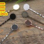 Cabochon 12mm,14mm,16mm Lace pad Tray Barrettes <b>Antique</b> Bronze/Gold/Silver/Black Hair Bobby Pin clip,<b>Jewelry</b> Accessories 100pcs