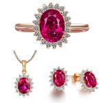Jewelry Sets 100% Real 925 Sterling <b>Silver</b> Jewelry Sets with Cubic Zirconia YH4620