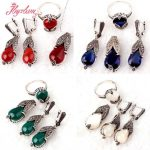 Agat,Crystal Drop Gem Stones Beads Marcasite Tibetan <b>Silver</b> For Lady Party Fashion Pendant Ring Earrings 1 Set,Free Shipping