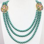 Beautiful shell simulated-pearl 8mm rainbow color round beads newly design gold-color <b>jewelry</b> <b>making</b> women necklace 28-32″B1190
