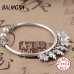 BALMORA 100% 925 Sterling <b>Silver</b> <b>Jewelry</b> Auspicious Elephant Charms Bangles for Women Gift about 17cm Vintage <b>Jewelry</b> SZ0070