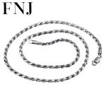 2/3MM Rope Chain 925 Sterling Silver Necklace Men 100% S925 Solid Thai Silver Chains Necklaces for Women <b>Jewelry</b> <b>Making</b>