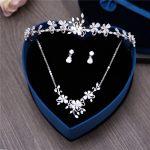 Luxury 3PCS Cubic Zirconia <b>Jewelry</b> Set Bridal Wedding CZ Zircon Floral Crowns Ladies Prom Bijoux <b>Necklaces</b> Earrings Gifts Sets
