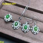 KJJEAXCMY Fine jewelry, 925 Sterling <b>Silver</b> Inlay large natural Jasper ladies ring pendant <b>earrings</b> 3 pieces