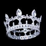 9.5cm/3.74in Height Men Crown King Tiaras Full Circle Round Trendy Crystal <b>Wedding</b> Hair Accessories Leaf Fashion <b>Jewelry</b> Factory