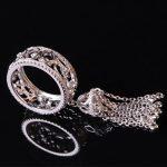 Designer Fashion 925 Sterling <b>Silver</b> <b>Jewelry</b> 3A Cubic Zirconia Party Tassel Ring