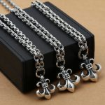 Manufacturers Wholesale S925 <b>Silver</b> Fashion <b>Jewelry</b> Retro Thai <b>Silver</b> Punk Men Women Domineering Anchor Pendant Chain