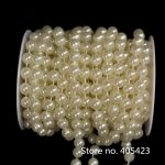 20m/roll 10mm pearl cotton thread bead ABS round imitation pearl DIY <b>jewelry</b> accessories wedding <b>supplies</b> Wedding party Decor