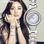 SINOBI New Casual <b>Bracelet</b> Quartz Watch Women Luxury Brand Stainless steel Wristwatch Ladies Clock female Rose Gold/ <b>Silver</b>
