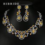 HIBRIDE Luxury New Design Multicolor Cubic Zirconia White Gold Color Women Wedding <b>Jewelry</b> Sets N-62
