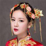 Pink Flower Headpiece Traditional Chinese Style Hair <b>Jewelry</b> Sets Vintage Hair Stick Ornament <b>Handmade</b> Tassel Hairwear Jewellery