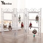 Dangle Earrings <b>Jewelry</b> white Metal Display Stand Holder Rack <b>Jewelry</b> Display Wrought Iron Frame <b>Necklace</b> Pendant Display Shelf