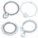 Heart Shape Bracelet & Bangle Brand 925 <b>Sterling</b> <b>Silver</b> Heart T sign Pendant Simple Design For Women Elegant Fine <b>Jewelry</b> w/logo