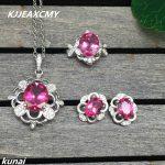 KJJEAXCMY Fine jewelry, Multicolored jewelry 925 <b>silver</b> inlay natural Topaz powder simple wholesale female suit