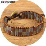 Go2boho Dropshipping 2018 New Leather Bracelet Tila Beads Wrap Bracelat Women Men <b>Jewelry</b> <b>Handmade</b> Beaded Friendship Gift Girl