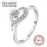 925 Sterling Silver Wedding Heart Rings <b>Jewelry</b> For Women Bijouterie Bijoux <b>Accessories</b> Engagement Bague AR026