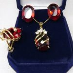 Women's Wedding Red Cubic Zirconia gem Beads Crystal Pendant Necklace Ring Earrings A030 5.27 silver-<b>jewelry</b> silver-<b>jewelry</b>
