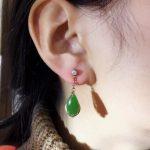 TJP natural GEMSTONE citrineb mosaic S925 <b>silver</b> Hetian jade jasper water Drop shaped <b>earring</b> woman Jade <b>earrings</b>
