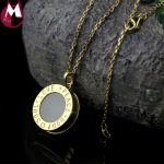 Fine <b>Silver</b>/Gold Color Round Letter Pendant Necklace Women High Quality Natural Jade Pendant Love Peace <b>Silver</b> 925 <b>Jewelry</b> SN08