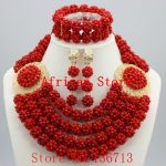 Lovely Purple Single African Women Beads <b>Jewelry</b> Set Nigerian African Beaded Necklace Set <b>Handmade</b> Style Free Shipping BC401-5