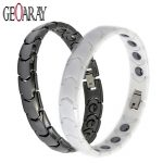 Men Women Healthy Magnetic Bracelet Hematite White Black New Energy Ceramic Bracelets Hot Sale <b>Fashion</b> <b>Jewelry</b>