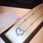 S925 Sterling <b>Silver</b> <b>Necklace</b> Exquisite 12 Crystal Heart <b>Necklace</b> Super Flash Fire Rhinestone Clavicle Chain Valentine's Day Gif